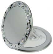 Fantasia Compact Mirror Round Silver 10 x Magnification. Elements 8.5 cm