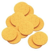 Hive Cellulose Yellow Mask Removing Sponges (12) - Round 10cm - HBA1435