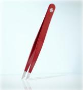Rubis combination tweezers, red with Swiss cross