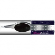 "Trend Tweezers Stainless Steel G3 LED Lighted Precision Tweezers ""Black"" with. Crystal + Designer Storage Case with Mirror"