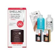 Cnd Shellac Usa Starter Kit - Fedora Colour Starter Kit - Top & Base Coat + Essentials