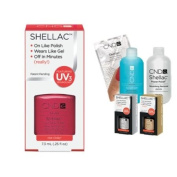 Cnd Shellac Usa Starter Kit - Hot Chilis Colour Starter Kit - Top & Base Coat + Essentials