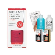 Cnd Shellac Usa Starter Kit - Wild Fire Colour Starter Kit - Top & Base Coat + Essentials