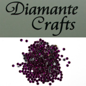300 x 2mm Purple Round Diamante Loose Flat Back Rhinestone Gems - created exclusively for Diamante Crafts