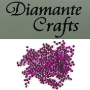 300 x 3mm Purple Round Diamante Loose Flat Back Rhinestone Gems created exclusively for Diamante Crafts