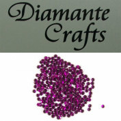 300 x 4mm Purple Round Diamante Loose Flat Back Rhinestone Gems created exclusively for Diamante Crafts