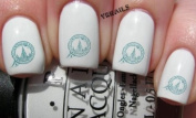 Moscow City Travel Stamp - Nail Decals by YRNails