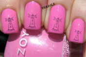 Nautical Lighthouse - Nail Decals by YRNails