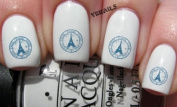 Paris City Travel Stamp - Nail Decals by YRNails