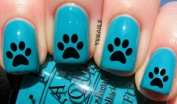 Simple Dog Paw Print - Nail Decals by YRNails