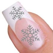 Silver Snowflake Winter Nail Stickers Art / Decals