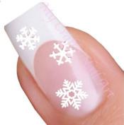 White Snowflake Winter Nail Stickers Art / Decals