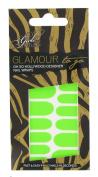 Girls With Attitude Glamour to Go Neon Nail Wraps Green