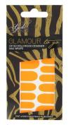 Girls With Attitude Glamour to Go Neon Nail Wraps Orange