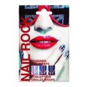Nail Rock Union Jack Red White and Blue Nail Wraps