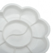 5pcs White Acrylic Colour Mixing Paint Draw Nail Art Design Palette Dish Flower