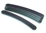 Star Nails Black Boomerang File (100/180 grit) 6 Pack - ST745