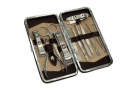 12PCS Nail Care Personal Manicure & Pedicure Set Travel & Grooming Kit Tool Set Clipper Set Cuticle Nipper File Tweezers
