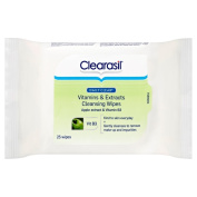 Clearasil Daily Clear Vitamins and Extracts 25 Cleansing Wipes