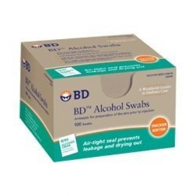 Bd Alcohol Swabs - 100 Ea