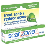 Scar Zone Sudden Change A Acne Treatment & Diminishing Cream, For Sensitive Skin, 15ml Tubes,