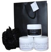 Mens Facial Exfoliating,Clay Detox mask and Moisturising gift set /tags