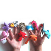 10 Pcs Finger Ocean Animal Puppet Toy Learn Play Story 10Yu