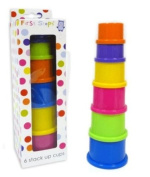 Set Of Six First Steps Brightly Coloured Stacking Cups