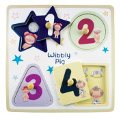 Wibbly Pig Wooden Peg Puzzle