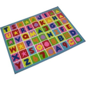 Childrens Large Anti Slip Colourful Letters Shapes Numbers Play Mat, Bedroom Nursery Mat Rug. Size