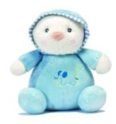 Super Soft Plush Blue Snuggles Chime Ball Teddy Bear - For Baby Boy