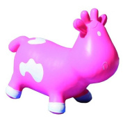 Crazii Hoppii Inflatable Bouncy COW - NEW DESIGN suitable for Age 1+ (Pink) - Happy Hopper Hopperz