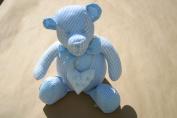 BABY BOY BLUE TEDDY BEAR DOORSTOP DOOR STOP BIRTHDAY , CHRISTENING, NEW BORN GIFT IDEA