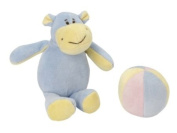 "Best gift for babies - Les Bébés d'Elyséa - ""Hippo"" Plush gift set - Comforter/ Plush/ Soft toy"