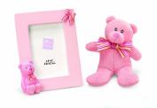 my first teddy bear & frame pink
