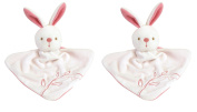Promotion - Set of two comforters/ plush toys/ soft toys - Zabou Le Lapinou - Best gift for babies