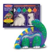 Melissa & Doug Decorate-Your-Own Dinosaur Figurines Craft Kit - 2 Solid-Resin Dinosaurs