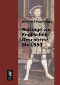 Beitrage Zur Englischen Geschichte Bis 1880