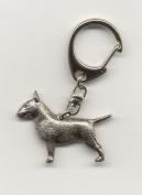 Bull Terrier Keyring Silver Finish