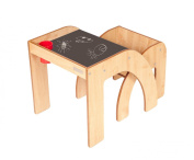 Little Helper Funstation Solo Chalky Toddler Table and Chair Set with Blackboard Desk