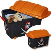 Toy Storage Box on Wheels Treasure Box Pirate 60 x 40 x 42 cm