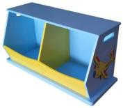 Liberty House Toys 2-Bin Storage Unit for Boys