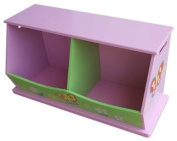 Liberty House Toys 2-Bin Storage Unit for Girls