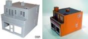 Dapol Model Railway Modern Shop & Flat Plastic Kit - OO Scale 1/76