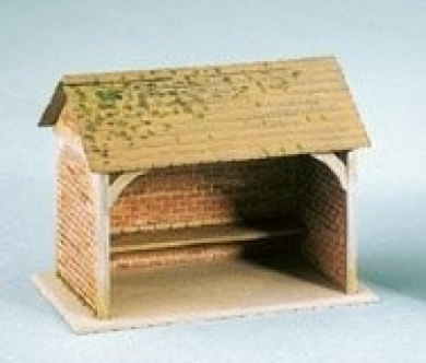 Wills SS75 Bus Shelter, brick built with tiled roof. Area 52 x 35mm