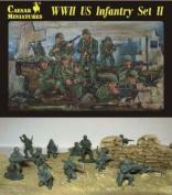 Caesar Miniatures 1/72 WWII US Infantry Set II #