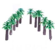 10pcs 5.1cm Model Palm Trees Layout Train Scale 1/400