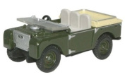 Oxford Diecast Land Rover 80 Flat Back in Green - 1/76 OO Scale Diecast Model