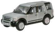 Oxford Diecast Land Rover Discovery in Zermatt Silver - 1/76 Diecast Model