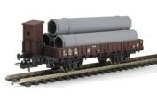 Lima HL6041 Flat waggon with brakemans cab in SNCF livery with 'Dalmine' pipe load